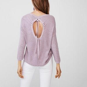 Express Lilac Open Back Pullover Sweater size M
